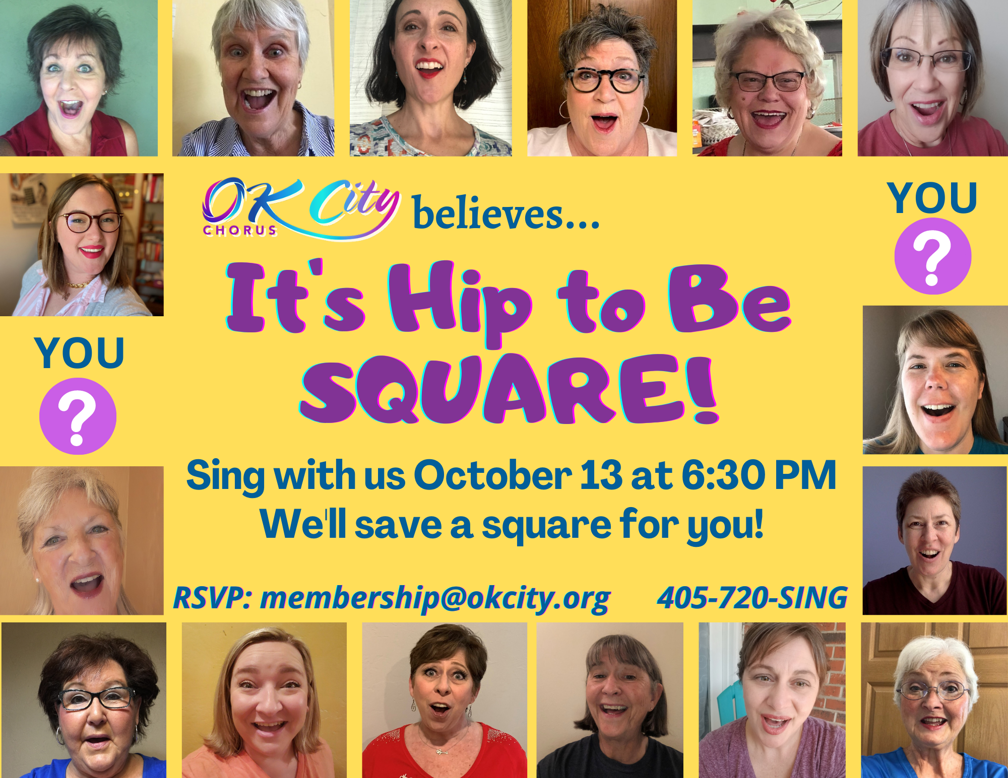 It's Hip to Be Square - OK City Chorus Virtual Open House